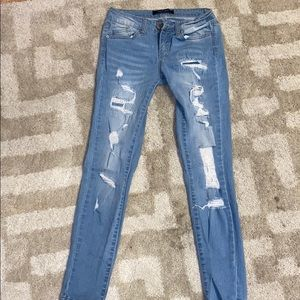 Distressed jeans. Brand new